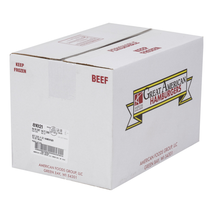 Great American All Natural Halal Beef Burgers, 75% Lean 25% Fat, 12